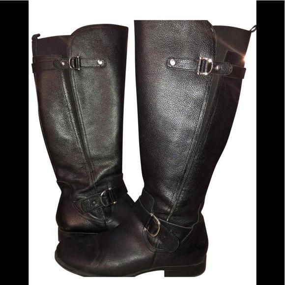 d8333136220 Naturalizer Jillian Black Leather Boots Size 9